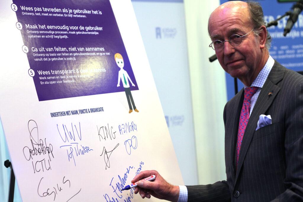 Bas Eenhoorn tekent het Gebruiker Centraal Manifest