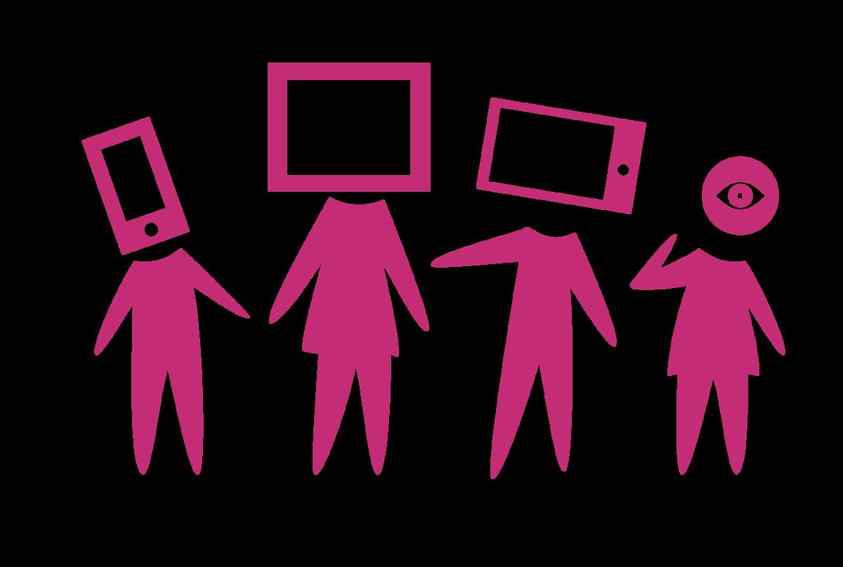 Fatsoenlijk digitaal groepsafbeelding poppetjes
