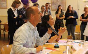Juryleden Edo Plantinga en Mireille Twuijver
