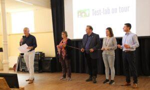 Winnende team Test lab on tour
