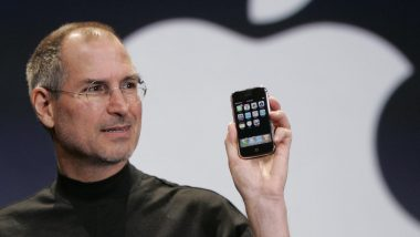 Steve Jobs presenting first iPhone