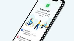 Afbeelding van mobiel met CoronaMelder app