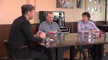 Peter van Grieken in gesprek met Bram Duvigneau en Paul van Workum