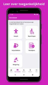 Screenshot van de Appt app